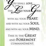Scripture Art: Matthew 22:37-38
