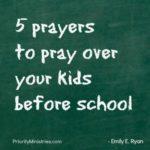 pray before school