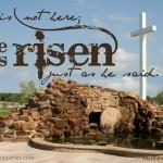 Easter Scripture Art: Matthew 28:6