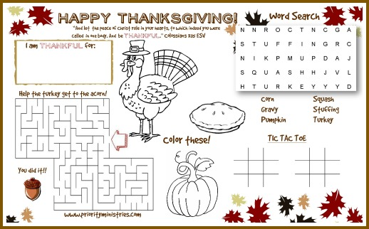 Free Thanksgiving Printable & Cute Ideas for Your Kids Table ...