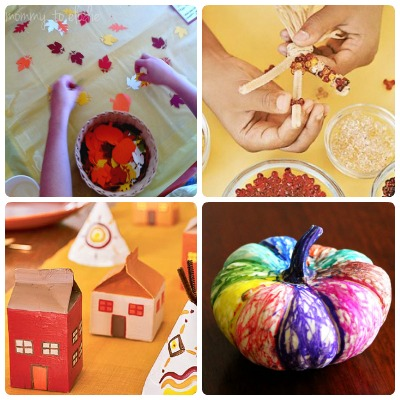 Use these crafty ideas to keep your kids busy at the Thanksgiving table.