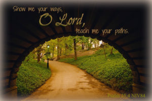 Scripture Art: Psalm 25:4