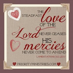Scripture Art: Lamentations 3:22