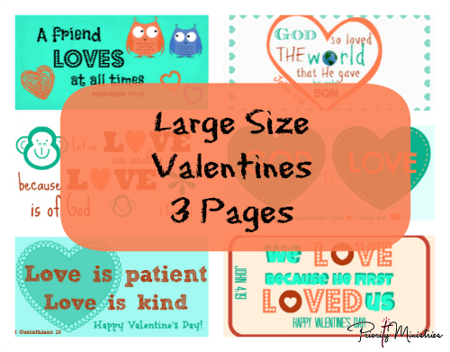Large Size Valentine's Day Printable with Scriptures