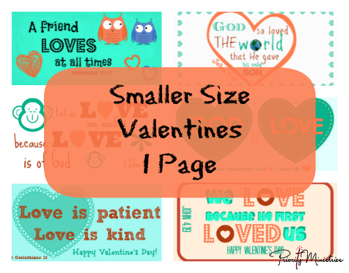 Smaller Size Valentine's Day Printable with Scriptures