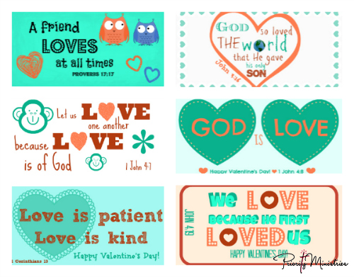 Valentine's Day Printable with Scriptures