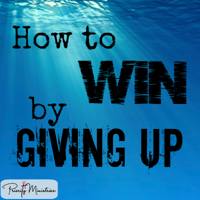 How to win by giving up