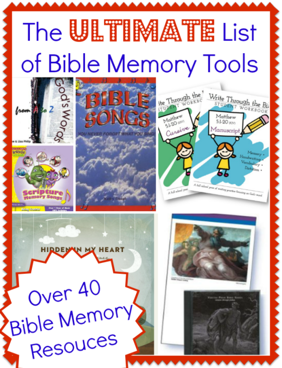 Pins for the Christian Mom: The Ultimate List of Bible Memory Tools