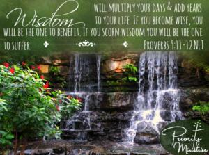 Proverbs 9:11-12 Scripture Art