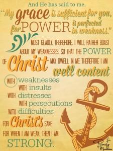 Scripture Art: 2 Corinthians 12:9-10