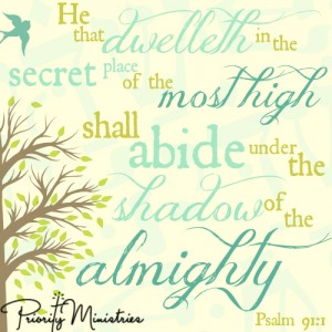 Scripture Art: Psalm 91:1