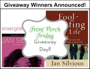 Winners of our Front Porch Friday Giveaway!