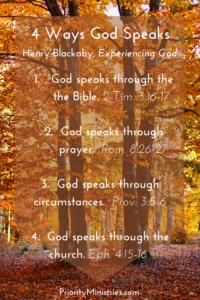 4 Ways God Speaks