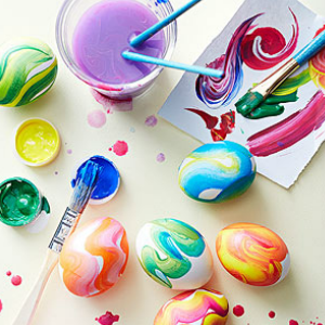 7 Creative Ways to Dye Easter Eggs - Tempera Painted Easter Eggs